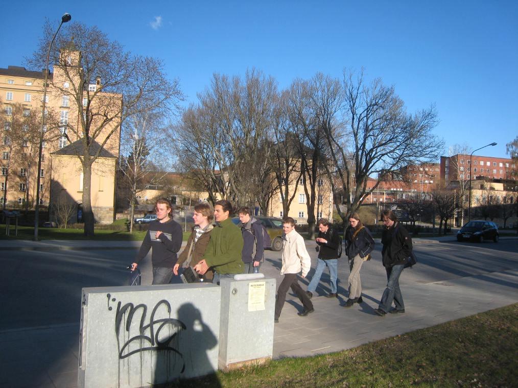 Deutsches Team auf dem KTH-Campus