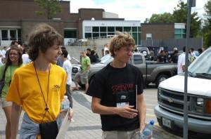 Contest-Tag 1: Fabian und Aaron