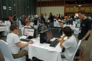 Deutsches Team bei der Practice Session der IOI 2011