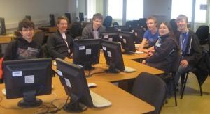 Das Team im Computerraum