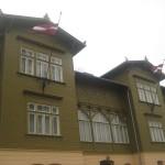historisches Gebäude in Kuldĩga