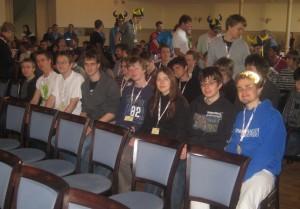 Das Team bei der Eröffnungsfeier