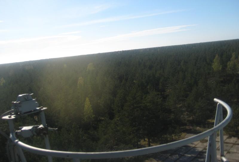 Ausblick vom Radio Teleskop