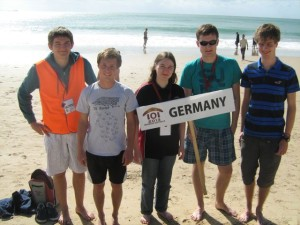 Let the sun shine on: Bennett, Lucas, Juliane, Lukas und Paul (vlnr)