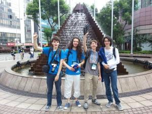 Das deutsche Team: v.l.n.r. Manuel Gundlach, Philip Wellnitz, Gregor Matl, Felix Bauckholt