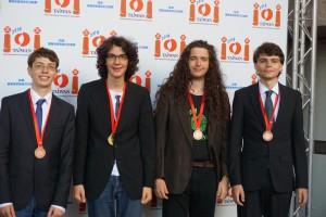 Die Sieger v.l.n.r.: Gregor Matl (Bronze), Felix Bauckholt (Gold), Philip Wellnitz (Bronze), Manuel Gundlach (Bronze)