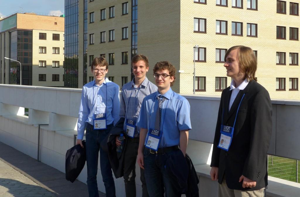 Marian, Nico, Nicolas und Viktor (v.l.n.r.) im University Village in Kasan