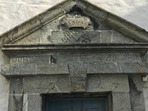 Türsturz in der Feste Bergenhus