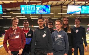 Deutsche Mannschaft mit Teamleitung nach dem Bowlen - Danke an Guide Thea für das Foto